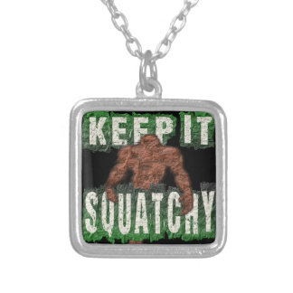 KEEP IT SQUATCHY SILVER PLATED NECKLACE