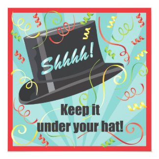 Keep it under your hat Surprise Party Invitation