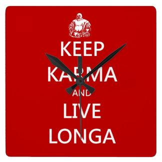 Keep Karma & live Longa Wallclock