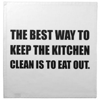 Keep Kitchen Clean Eat Out Printed Napkin