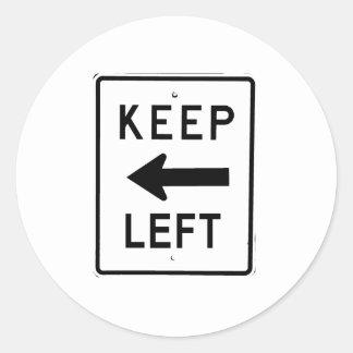 KEEP LEFT SIGN STICKER