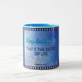 Keep looking up 😀 Two-Tone mug