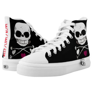 'Keep Love Alive' high tops basic Printed Shoes