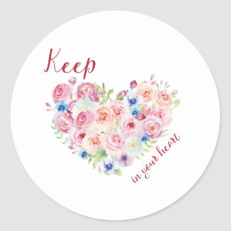 Keep love in your heart classic round sticker