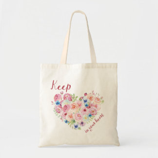 Keep love in your heart tote bag