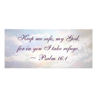 Keep Me Safe Psalm Quote Rack Card Design