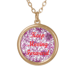 Keep Moving Forward Gold Plated Necklace