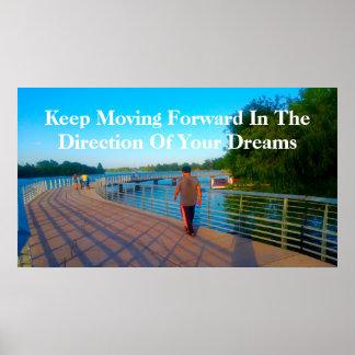 """Keep Moving Forward"" Poster"
