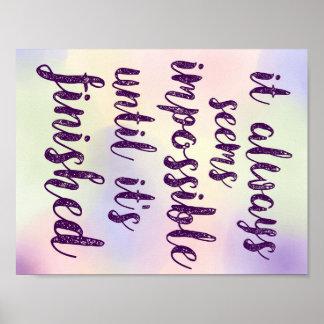 Keep Moving Forward Rainbow Inspiration Poster