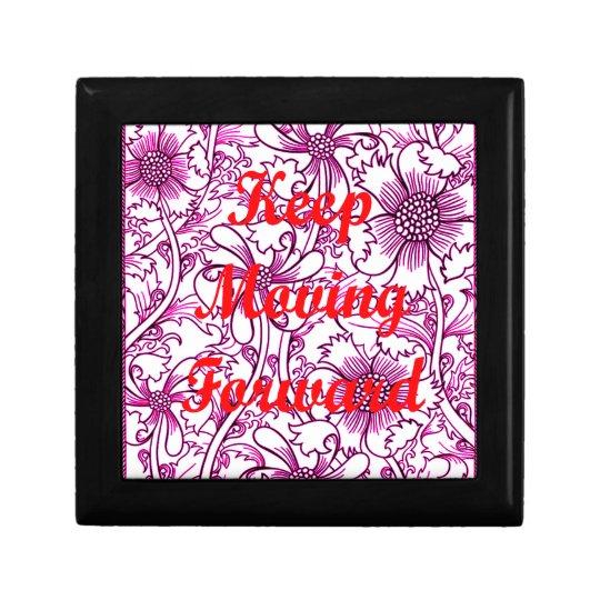 Keep Moving Forward Small Square Gift Box