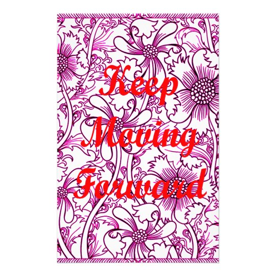 Keep Moving Forward Stationery Paper