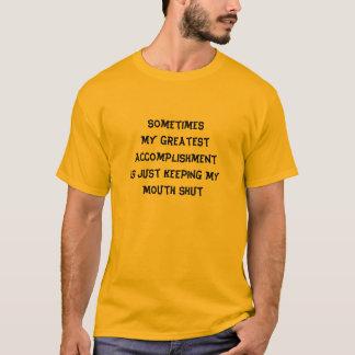 Keep My Mouth Shut Humor Shirt