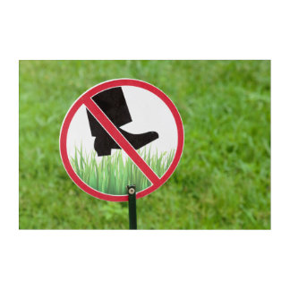Keep Of The Grass Sign Acrylic Print