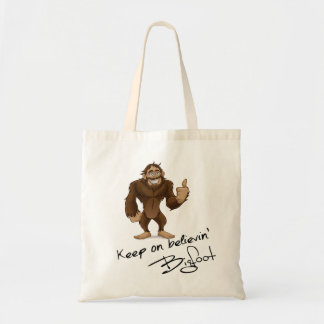 Keep On Believin' Bigfoot Autograph Budget Tote Bag