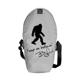 Keep On Believin' Bigfoot Autograph Courier Bags