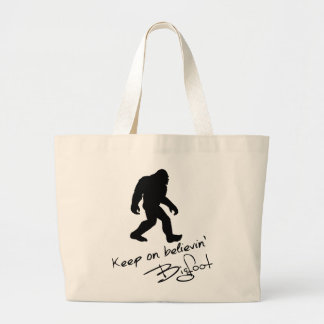Keep On Believin' Bigfoot Autograph Jumbo Tote Bag