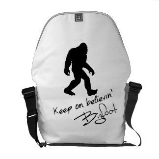 Keep On Believin' Bigfoot Autograph Messenger Bags