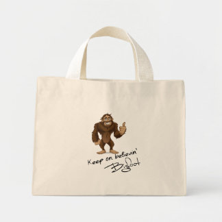 Keep On Believin' Bigfoot Autograph Mini Tote Bag