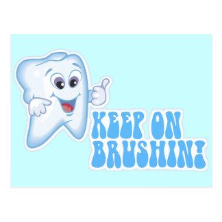 Keep On Brushin! Postcard
