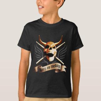 keep on rocking more drummer drumsticks skull T-Shirt