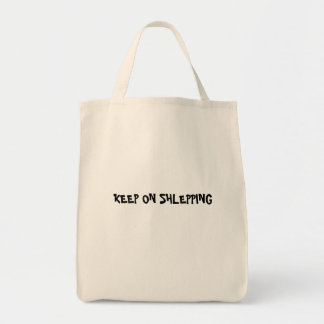 KEEP ON SHLEPPING GROCERY TOTE BAG