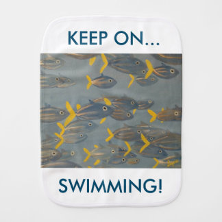 Keep on Swimming Burp Cloth