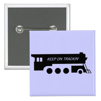Keep on Trackin' By Train 15 Cm Square Badge