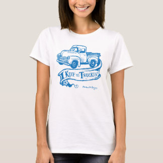 Keep on truckin'-blueT T-Shirt