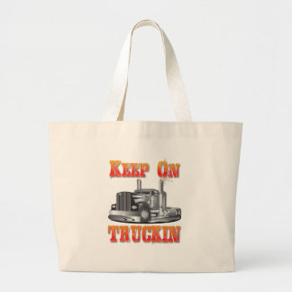 Keep on Truckin Large Tote Bag