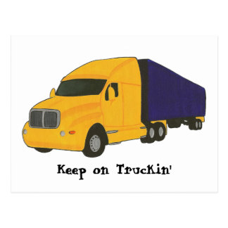 Keep on Truckin', truck on post cards