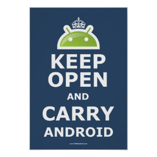 Keep Open and Carry Android Poster