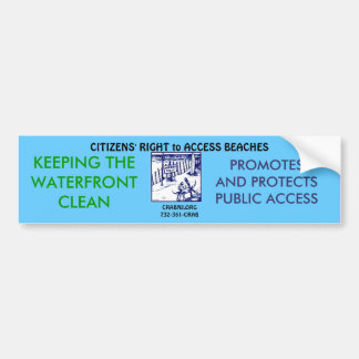 Keep our Waterfront Clean Bumper Sticker