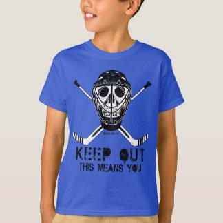 Keep Out Hockey Goalie Youth T-Shirt