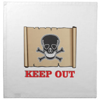 keep out posted sign napkin
