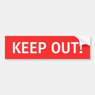 Keep out sticker