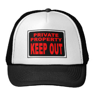 KEEP OUT TRUCKER HAT