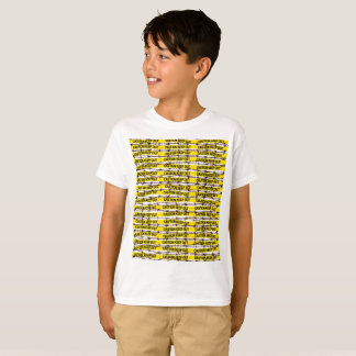 Keep Out! Yellow Tape and Barbed Wire T-Shirt