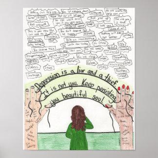 Keep Persisting (Depression) 11x14 Poster