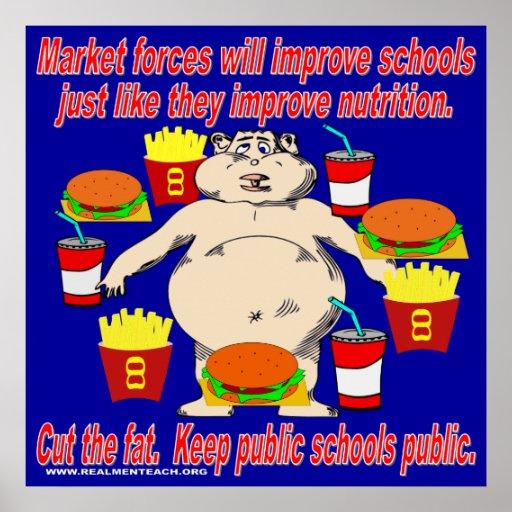 Keep Public Schools Public (blue) Poster