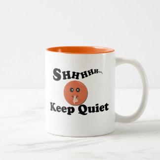 Keep Quite Two-Tone Mug