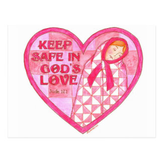 Keep Safe in Gods Love Inspirational Postcard