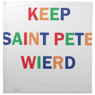 Keep Saint Pete Weird Design Napkin
