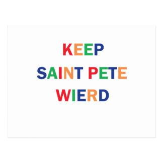 Keep Saint Pete Weird Design Postcard