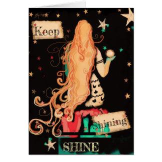Keep Shining Funky Fun Beachy Mermaid Card