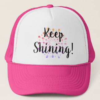 Keep Shining Inspirational Quote Trucker Hat
