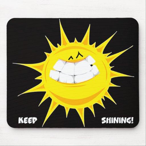 keep shining sun mouse pad