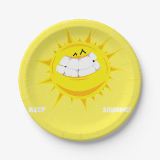 keep shining sun 7 inch paper plate