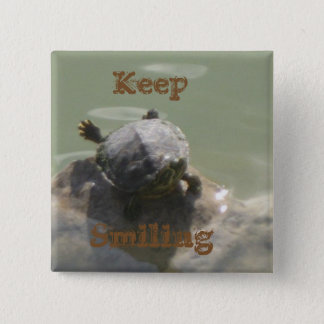 Keep Smiling 15 Cm Square Badge