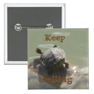 Keep Smiling 15 Cm Square Badge