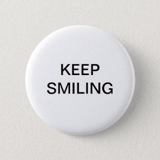 Keep Smiling 6 Cm Round Badge
